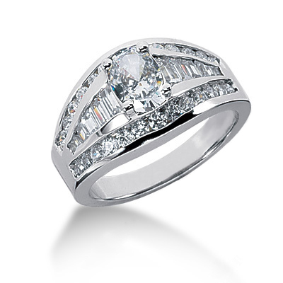 Platinum Women's Diamond Ring 2.03ct Main Image