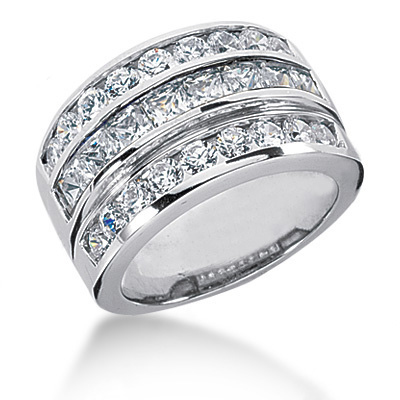 Platinum Women's Diamond Ring 2.62ct Main Image