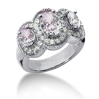 Platinum Women's Diamond Ring 2.65ct