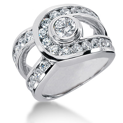 Platinum Women's Diamond Ring 2.81ct Main Image
