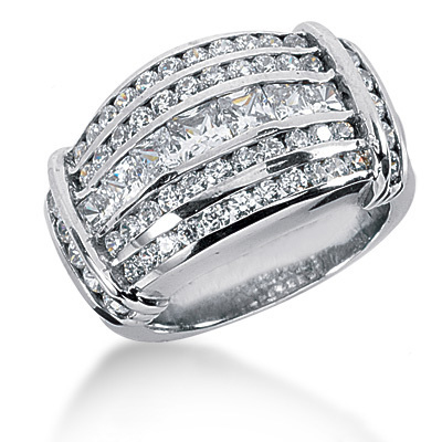 Platinum Women's Diamond Ring 2.84ct