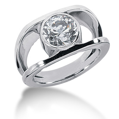 Platinum Women's Diamond Ring 2ct Platinum Women's Diamond Ring 2ct
