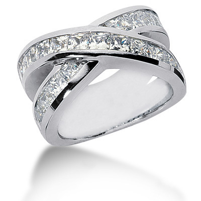 Platinum Women's Diamond Ring 3.74ct Platinum Women's Diamond Ring 3.74ct