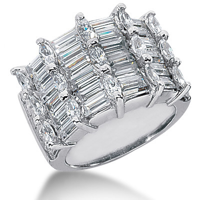 Platinum Women's Diamond Ring 5.91ct Platinum Women's Diamond Ring 5.91ct