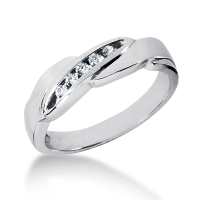 Platinum Women's Diamond Wedding Band 0.12ct Main Image