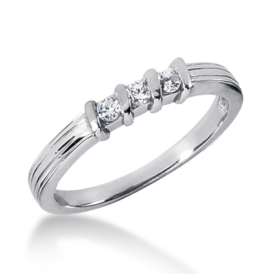 Platinum Women's Diamond Wedding Band 0.15ct Main Image