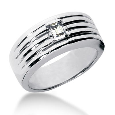 Platinum Women's Diamond Wedding Band 0.27ct Main Image