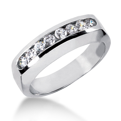 Platinum Women's Diamond Wedding Band 0.32ct Main Image