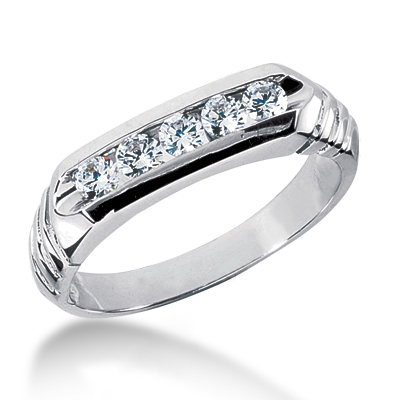 Platinum Women's Diamond Wedding Band 0.40ct 5.9mm Main Image