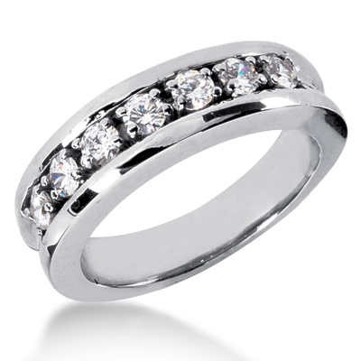 Platinum Women's Diamond Wedding Band 0.70ct Platinum Women's Diamond Wedding Band 0.70ct