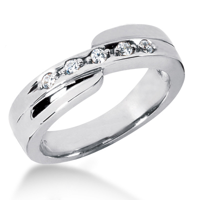 Platinum Women's Diamond Wedding Ring 0.15ct Platinum Women's Diamond Wedding Ring 0.15ct