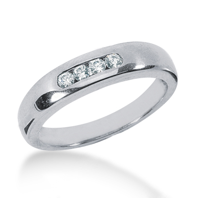 Platinum Women's Diamond Wedding Ring 0.20ct