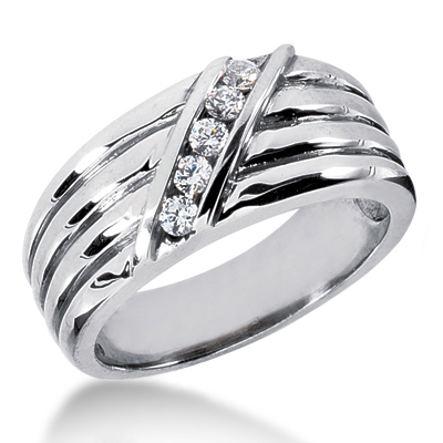Platinum Women's Diamond Wedding Ring 0.24ct Main Image