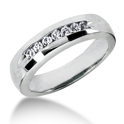Thin Platinum Women's Diamond Wedding Ring 0.28ct Main Image