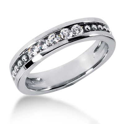 Platinum Women's Diamond Wedding Ring 0.35ct Main Image