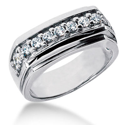 Platinum Women's Diamond Wedding Ring 0.44ct