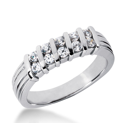 Platinum Women's Diamond Wedding Ring 0.50ct Main Image