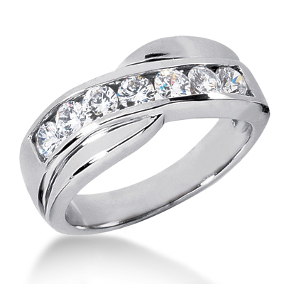 Platinum Women's Diamond Wedding Ring 1.05ct Main Image