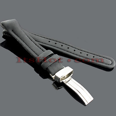 Polyurethane Watch Bands for Joe Rodeo Watches 16mm Black Main Image