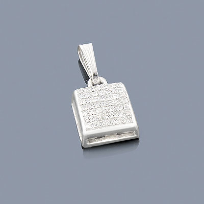Princess Cut Diamond Pendant 0.60ct 14K Main Image