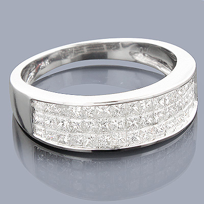 Princess Cut Diamond Wedding Band 1.27ct 14K Gold Main Image