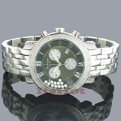 Rainbow JoJo Watch with Diamond Bezel, 1.75ct, Silver