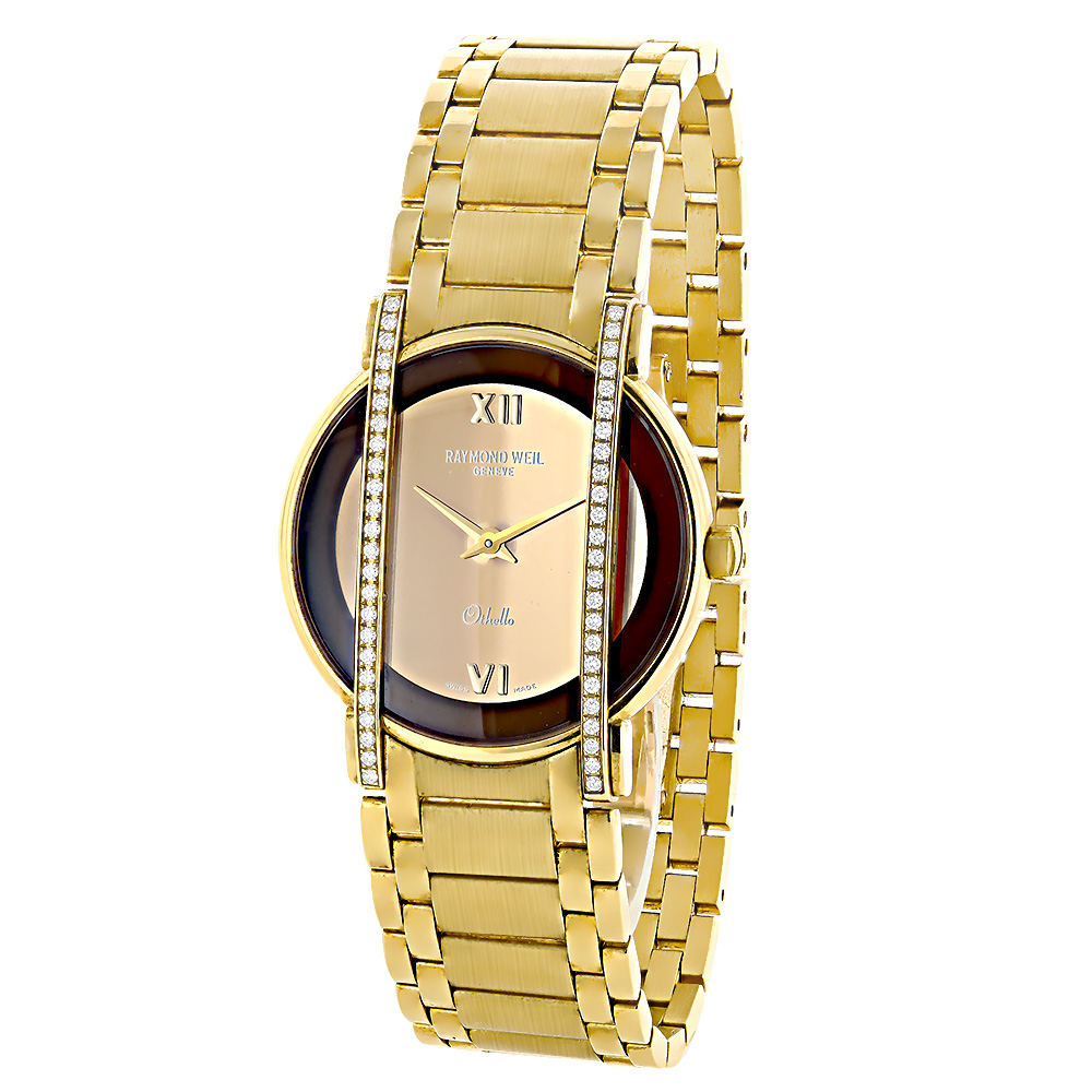 Raymond Weil Luxury Watches: Othello Ladies 18K Gold Diamond Watch 0.48ct Main Image