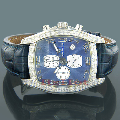 Real Diamond Watches Diamond Aqua Master Watch 2.00ct