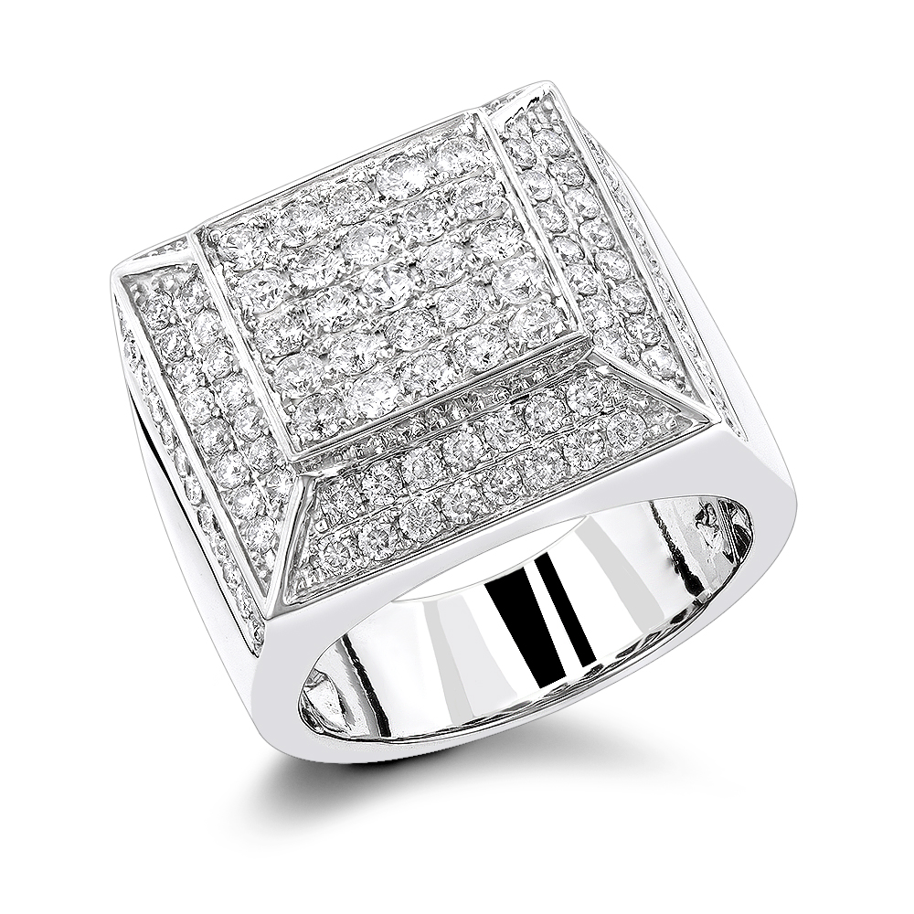 Real Hip Hop Diamond Ring 3.80ct