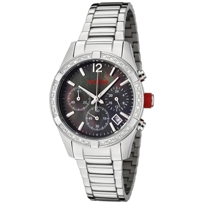 Red Line Watches: Women's Wind Chronograph Diamond Stainless Steel 50001-11MOP