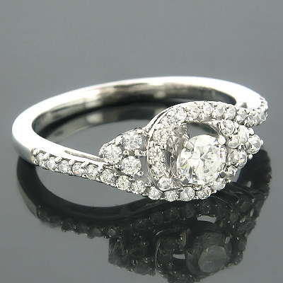 Ring Mountings 14K Diamond Engagement Ring Setting 0.78 main