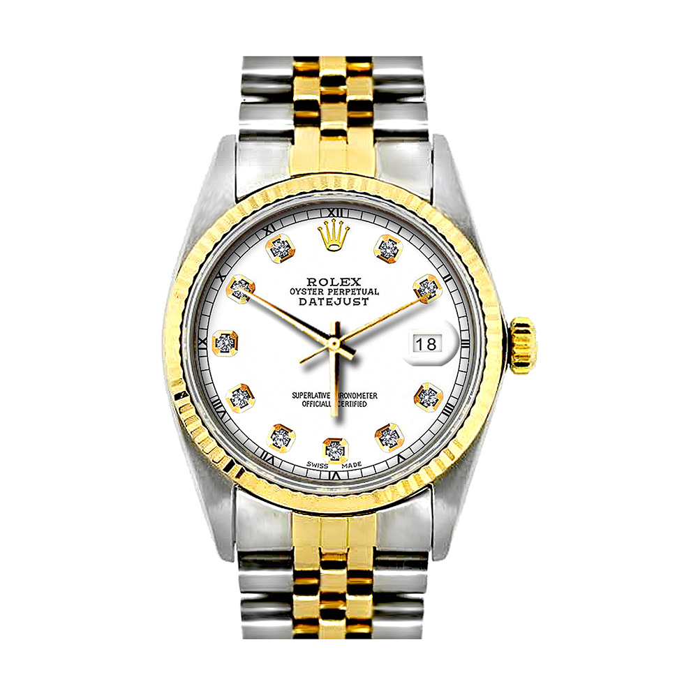 Rolex Datejust Diamond Watch for Men 0.1ct Stainless Steel and 18K Gold  Main Image