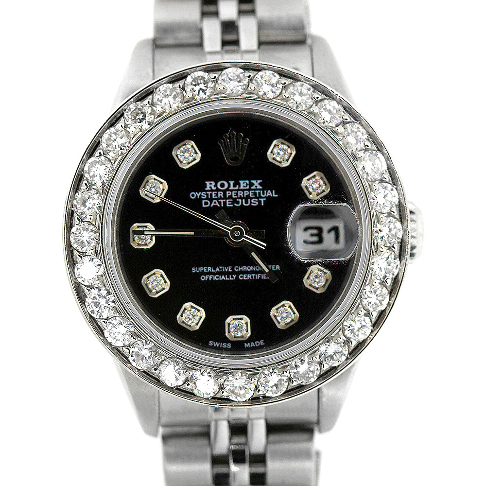 Rolex Datejust Diamond Watch for Women 1.7ct Stainless Steel Main Image