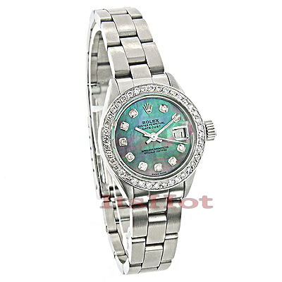 Rolex Datejust Ladies Custom Diamond Watch 2.50ct Main Image