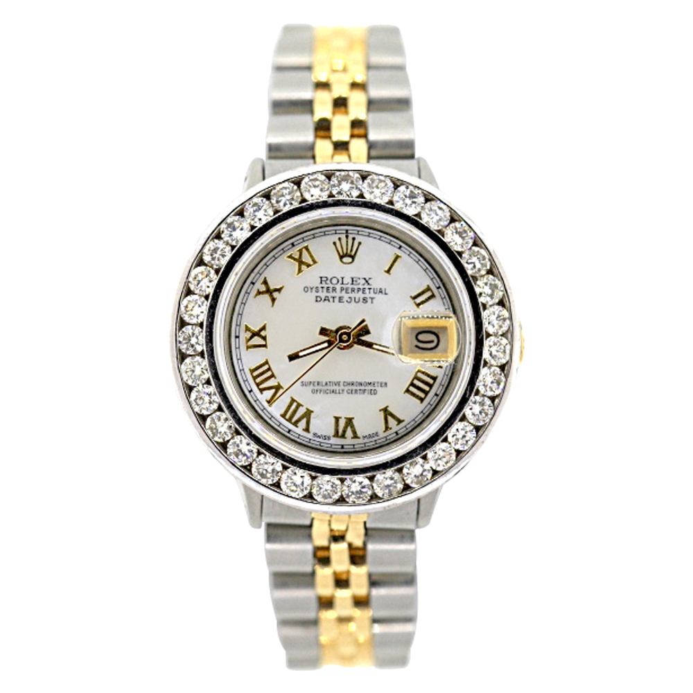 Rolex Datejust Womens Diamond Watch 2ct White MOP Steel and 18k Gold Main Image