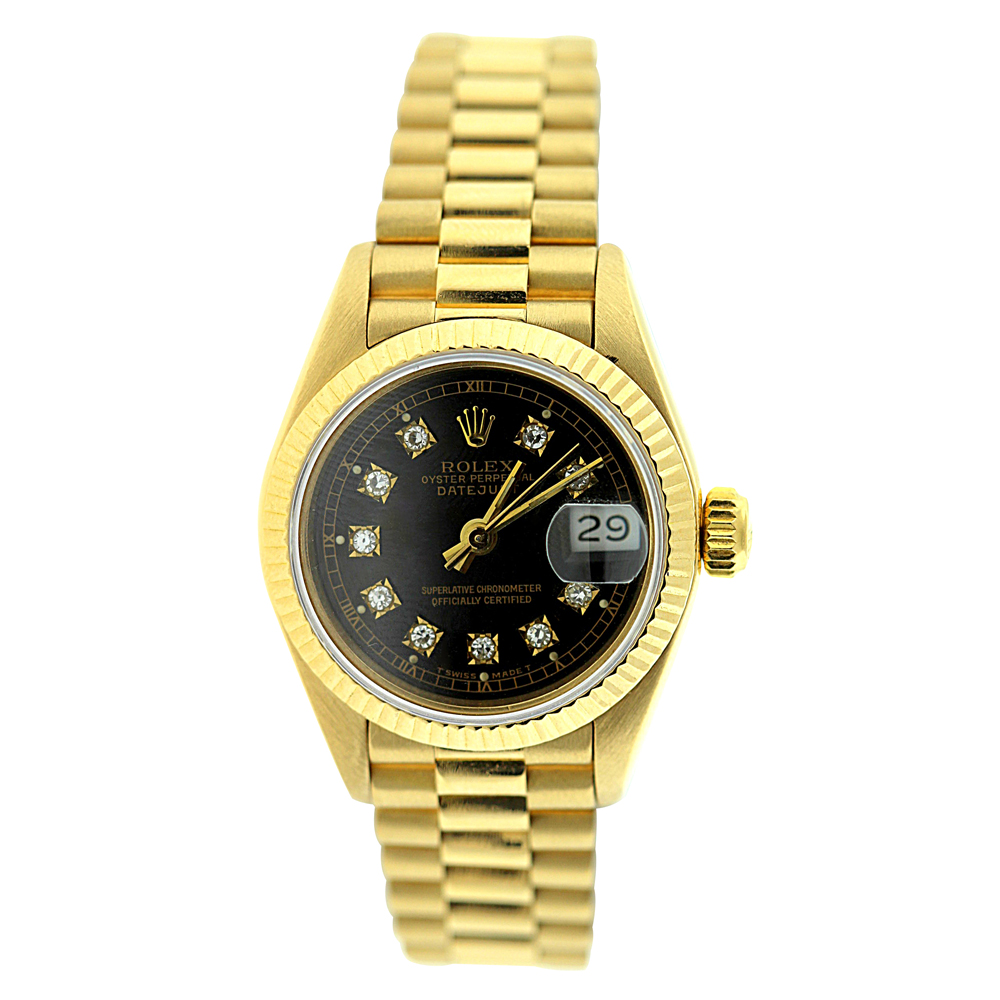 Rolex Presidential Datejust 18K Yellow Gold Womens Diamond Watch 0.1ct  Main Image