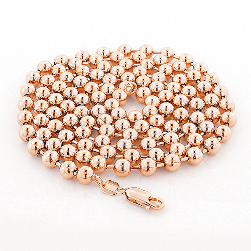 Rose Gold Ball Chain 14K 5mm, 22-40in Main Image