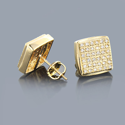 Round Diamond Earrings 14K 0.34ct Main Image