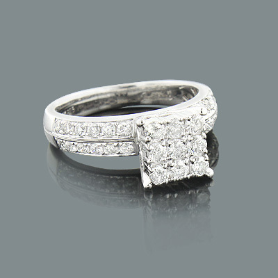 Round Diamond Engagement Ring 1.08ct 14K GOld
