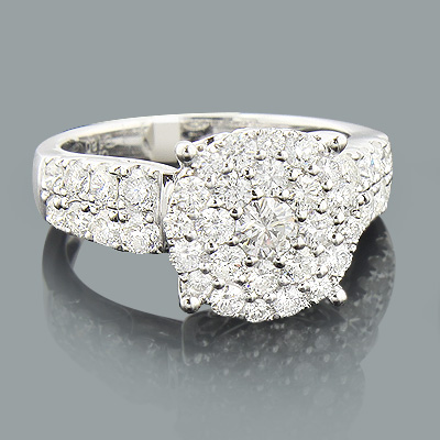 2 Carat Round Diamond Engagement Ring 14k Gold