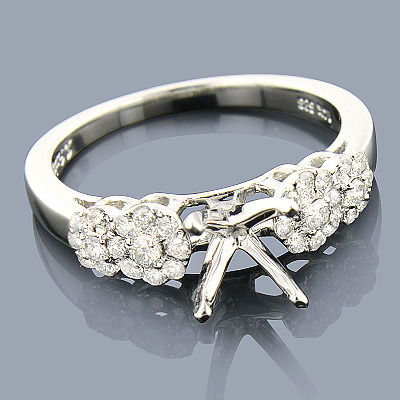 Round Diamond Engagement Ring Setting 0.38ct 14K