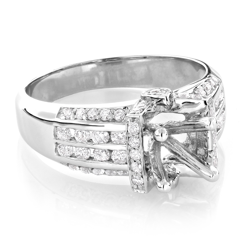 Round Diamond Engagement Ring Setting 0.79ct 14K