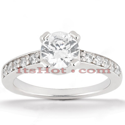 Round Diamond Platinum Engagement Ring 1.25ct Main Image