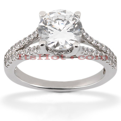 Round Diamond Platinum Engagement Ring 1.42ct Main Image