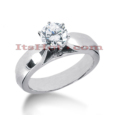 Round Diamond Platinum Engagement Ring 1ct Round Diamond Platinum Engagement Ring 1ct
