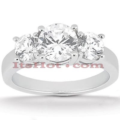 Round Diamond Platinum Engagement Ring 2ct Main Image