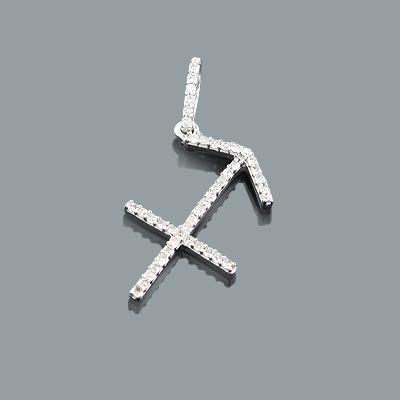 Sagittarius Pendant with Diamonds 0.17ct 10K Gold Charm Main Image