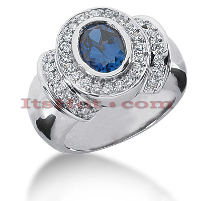 Sapphire Engagement Rings: Ladies Diamond Ring 0.48ctd 1.25cts 14K Main Image