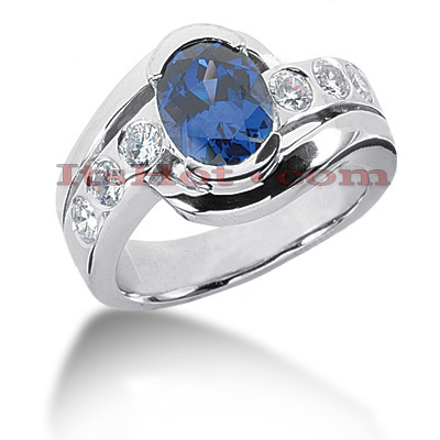 Sapphire Engagement Rings: Ladies Diamond Ring 0.60ctd 2cts 14K Main Image
