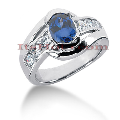 Sapphire Engagement Rings: Ladies Diamond Ring 0.72ctd 1.25cts 14K Main Image